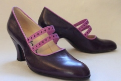 Riemchenpumps in violett
